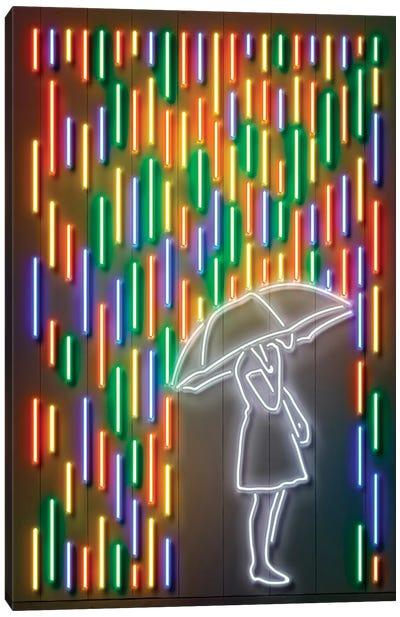Neon Luminosity Series: Rain Canvas Print #OMU120