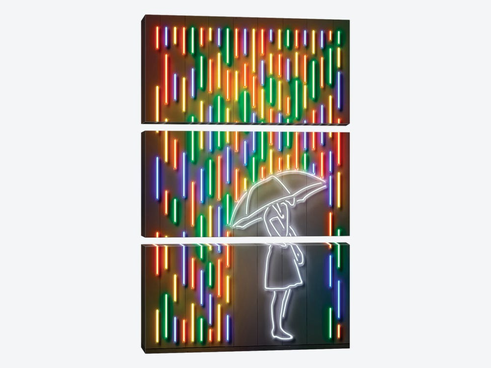 Rain by Octavian Mielu 3-piece Canvas Art Print