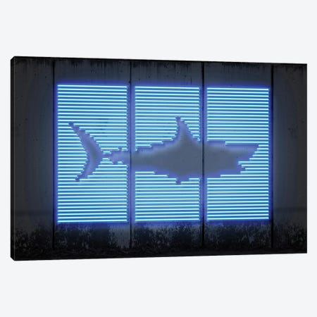 Shark Canvas Print #OMU122} by Octavian Mielu Art Print