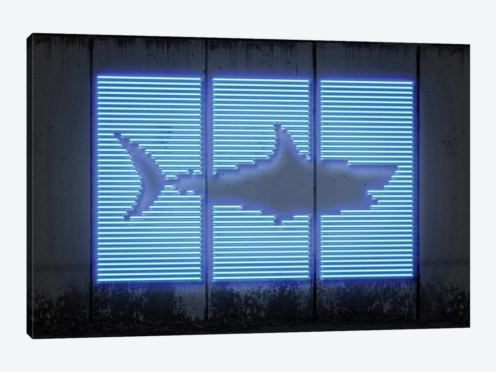 Shark by Octavian Mielu 1-piece Canvas Print