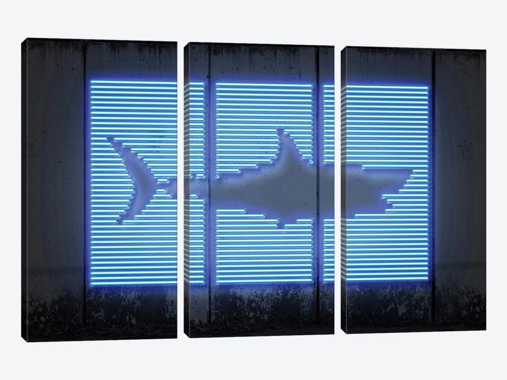 Shark by Octavian Mielu 3-piece Canvas Art Print