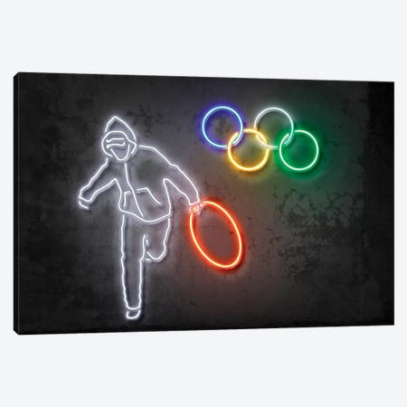 Stolen Olympics Ring Canvas Print #OMU123} by Octavian Mielu Canvas Art Print