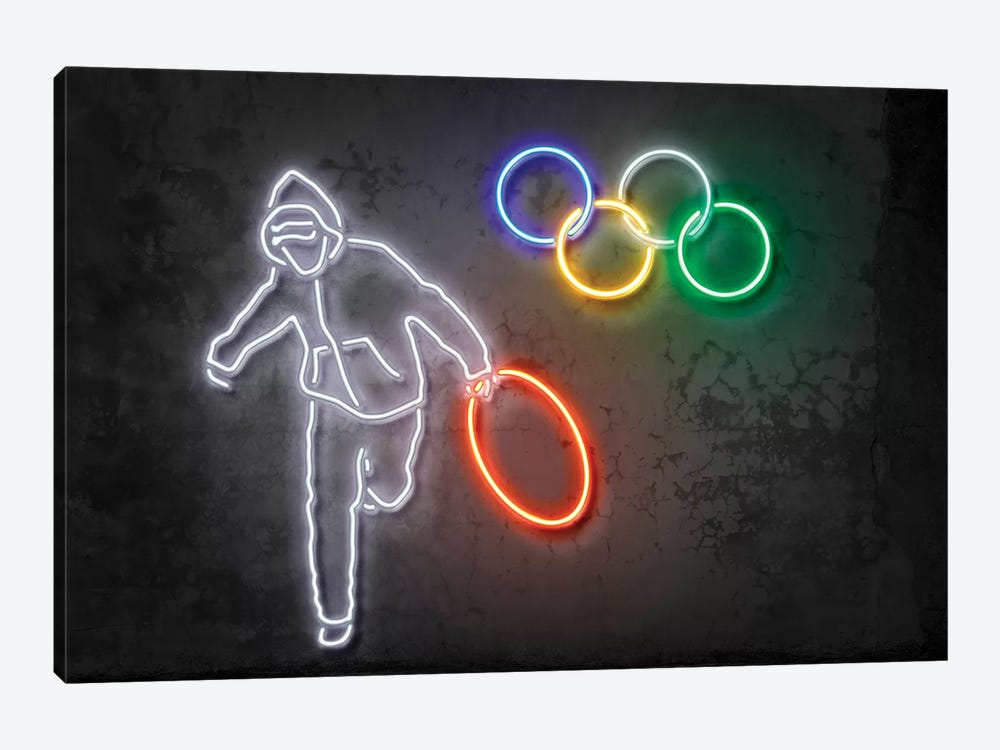 Stolen Olympics Ring by Octavian Mielu 1-piece Canvas Art