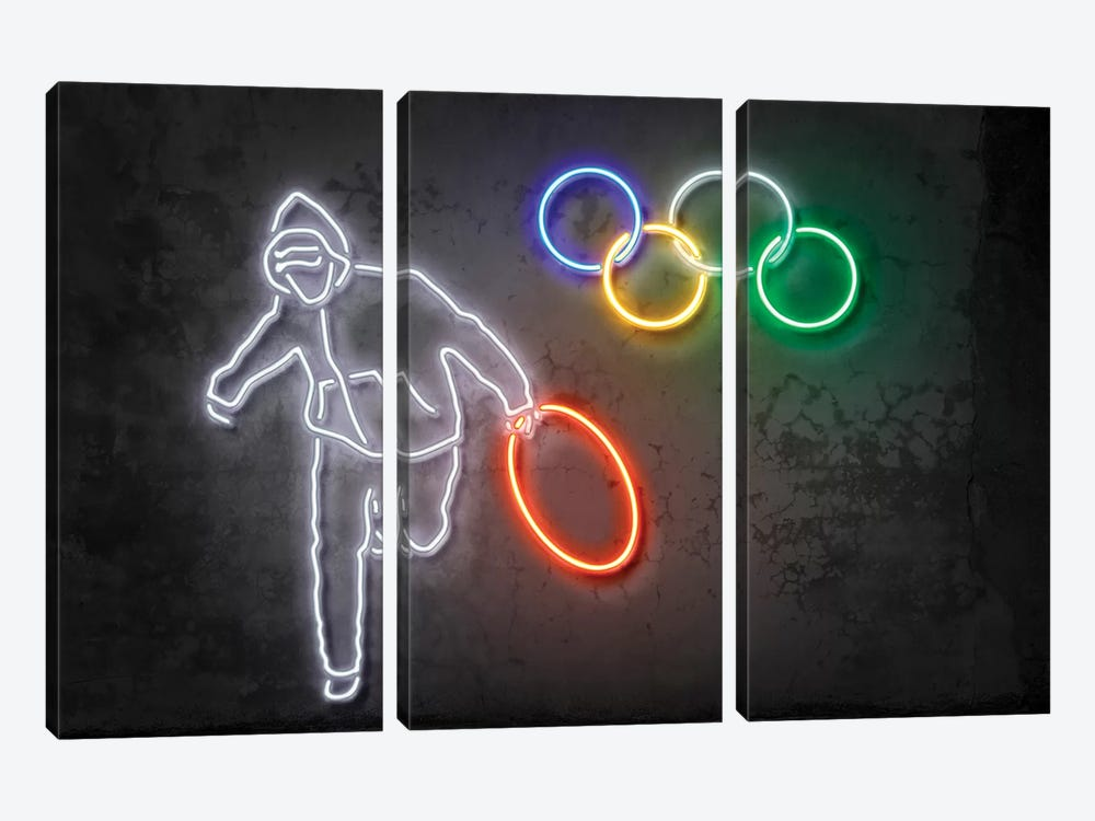 Stolen Olympics Ring by Octavian Mielu 3-piece Canvas Art