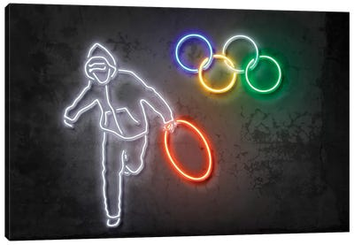 Stolen Olympics Ring Canvas Art Print