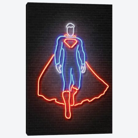 Superman Canvas Print #OMU124} by Octavian Mielu Canvas Wall Art