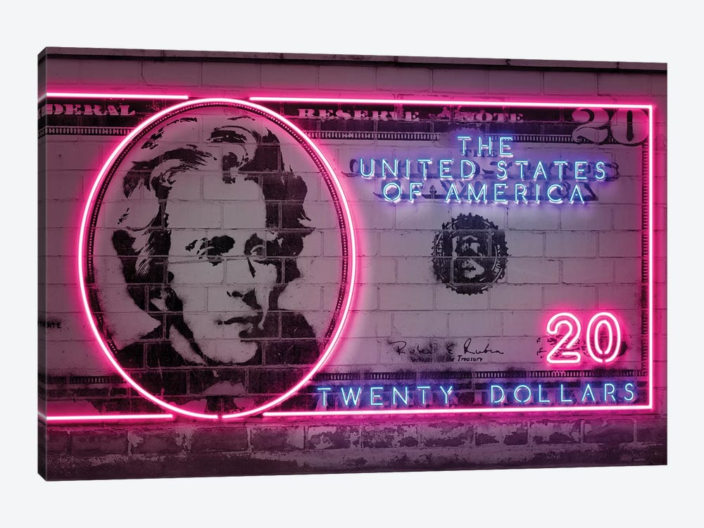 20 Dollars by Octavian Mielu 1-piece Canvas Artwork