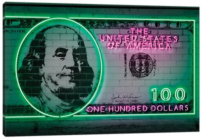 100 Dollars Canvas Art Print