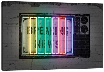 Breaking News Canvas Art Print
