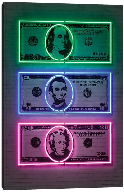 Dollars Canvas Art Print