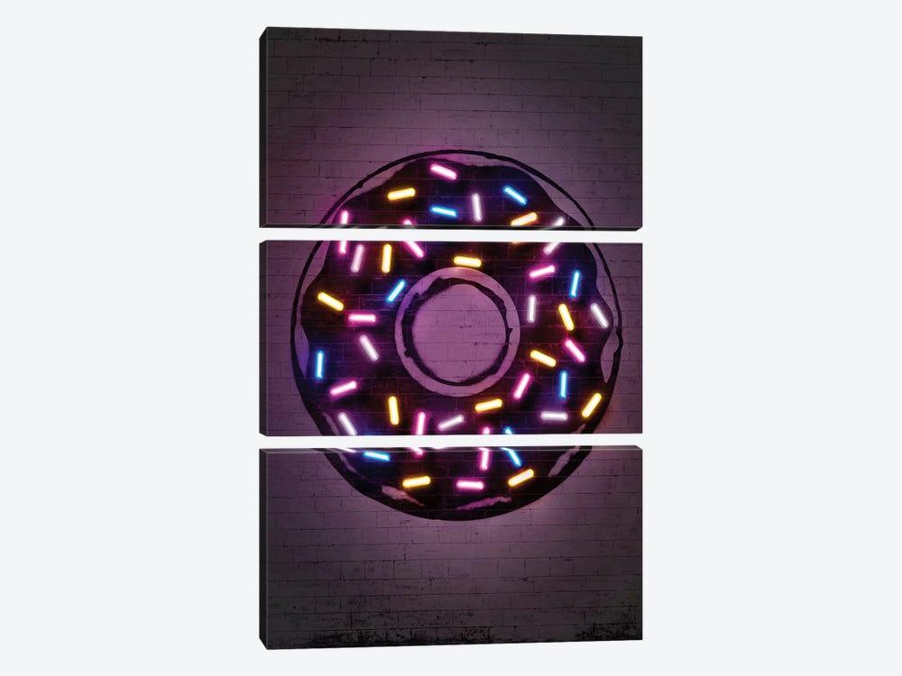 Donut by Octavian Mielu 3-piece Canvas Wall Art