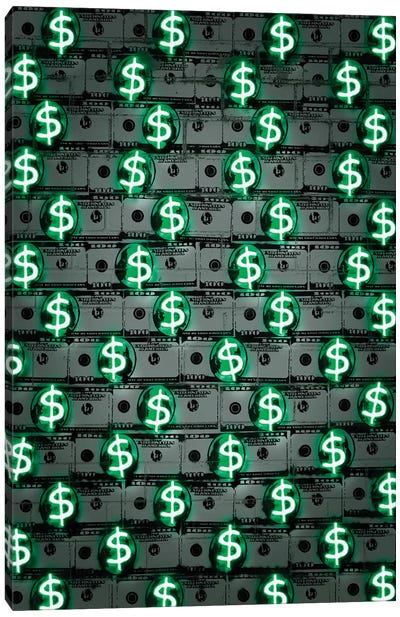 Money Money Money Canvas Art Print
