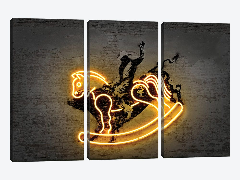 Rodeo by Octavian Mielu 3-piece Canvas Wall Art
