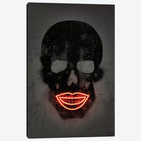 Skull Canvas Print #OMU147} by Octavian Mielu Canvas Wall Art