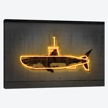 Yellow Submarine Canvas Print #OMU150} by Octavian Mielu Canvas Wall Art