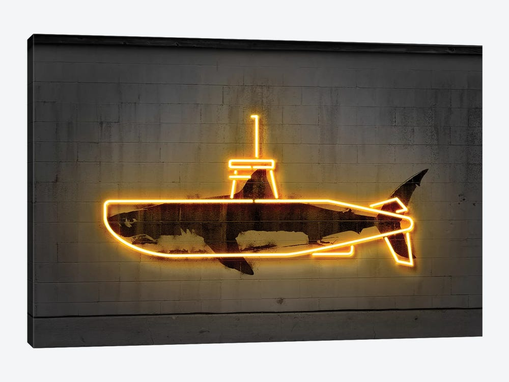 Yellow Submarine by Octavian Mielu 1-piece Canvas Artwork