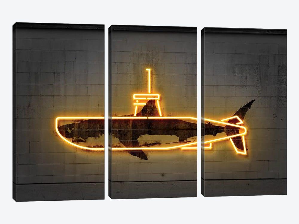 Yellow Submarine by Octavian Mielu 3-piece Canvas Artwork
