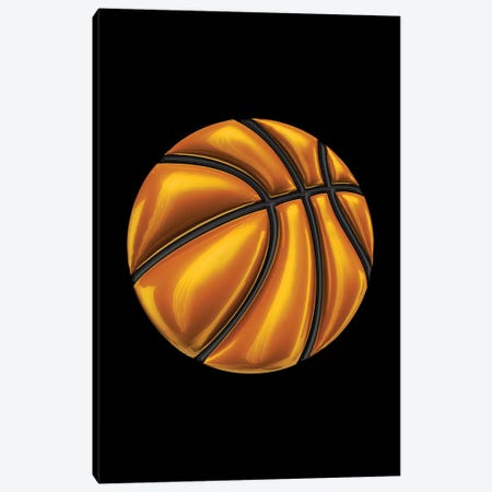 Basketball Canvas Print #OMU152} by Octavian Mielu Canvas Artwork