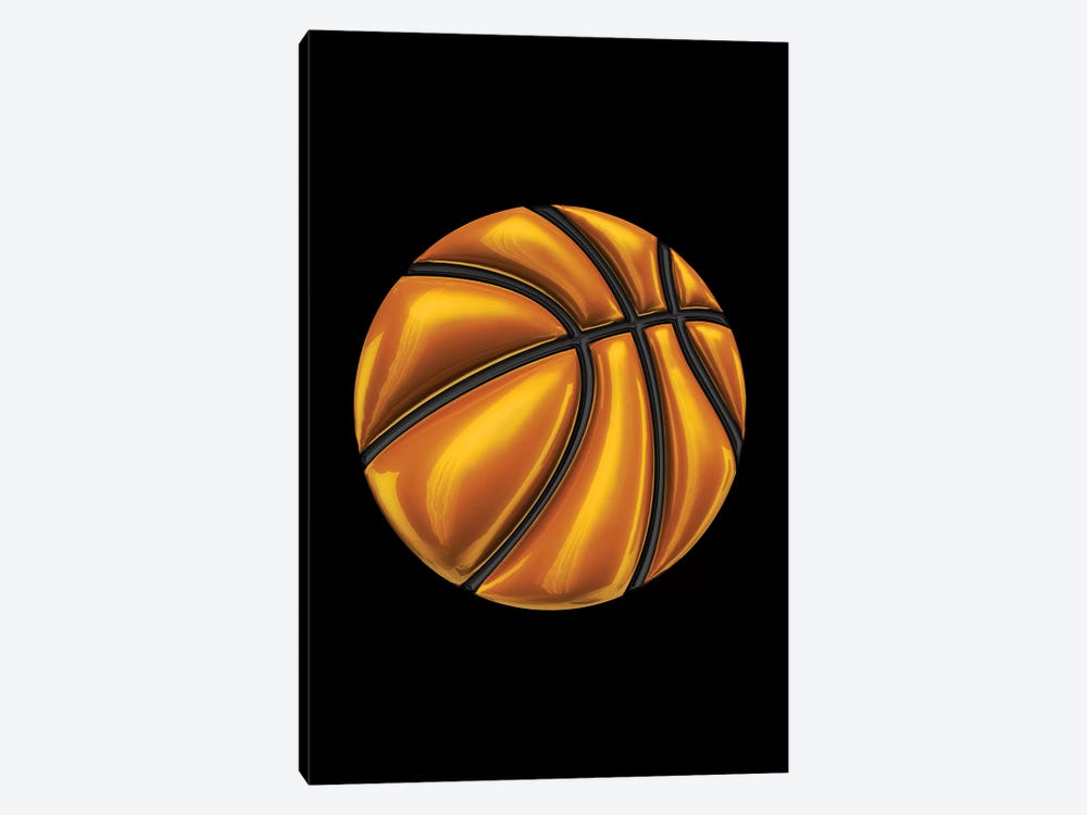 Basketball by Octavian Mielu 1-piece Canvas Wall Art