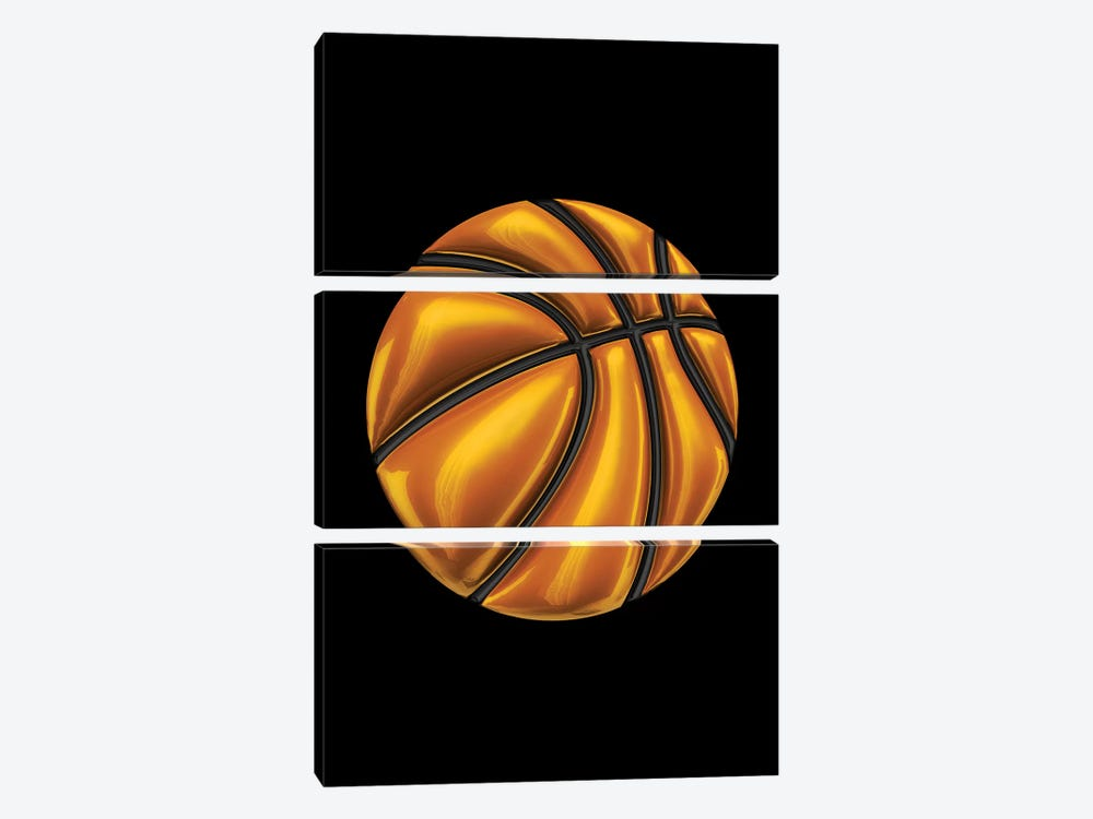 Basketball by Octavian Mielu 3-piece Canvas Art