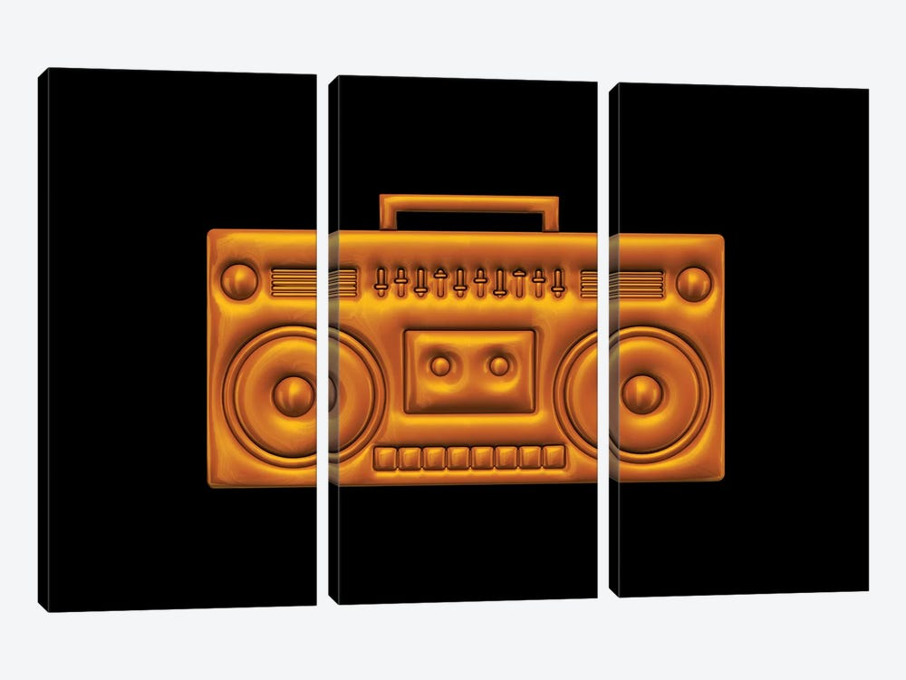 Boombox by Octavian Mielu 3-piece Canvas Artwork