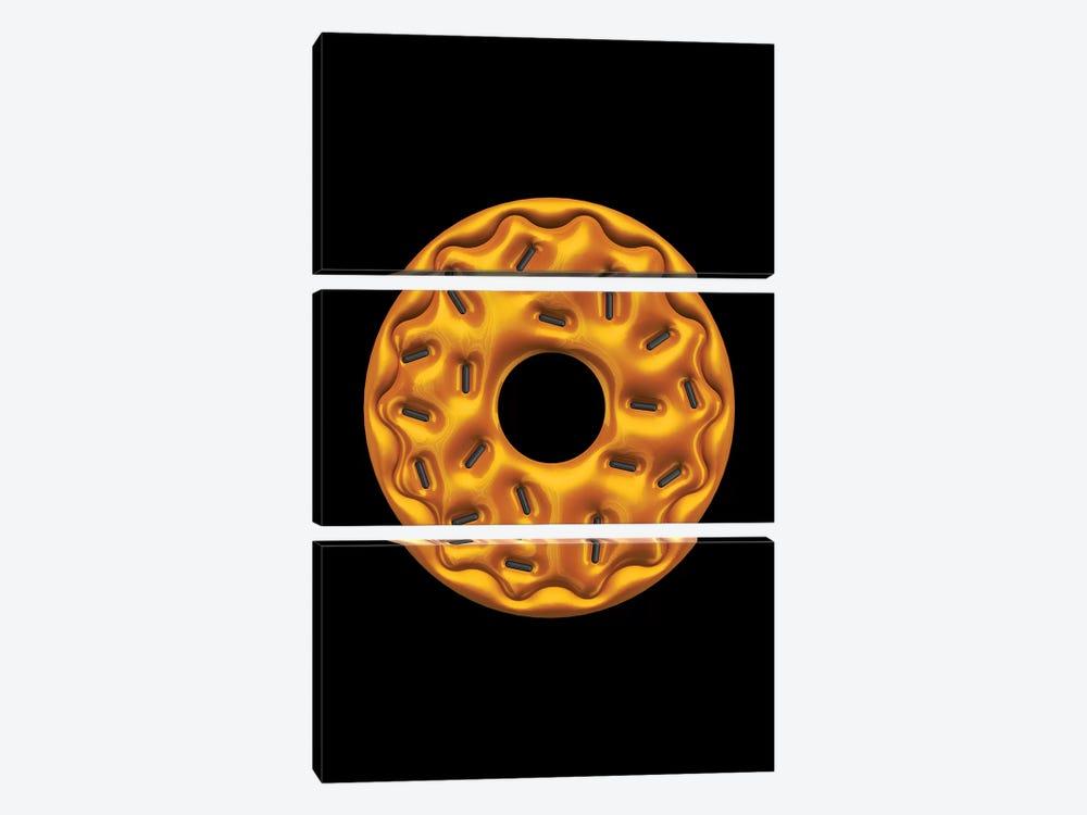 Donut by Octavian Mielu 3-piece Canvas Print