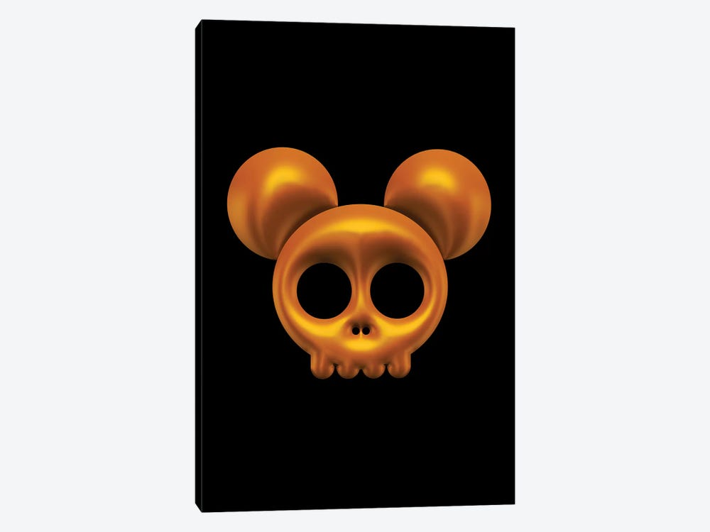 Mouse Skull by Octavian Mielu 1-piece Canvas Artwork