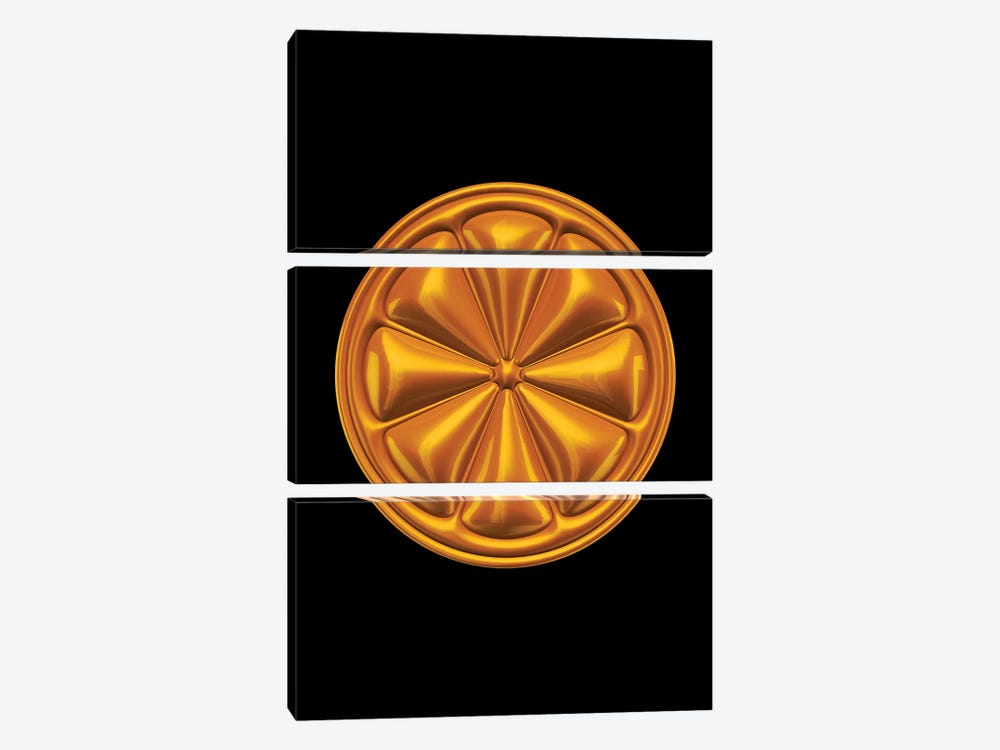 Orange by Octavian Mielu 3-piece Canvas Print