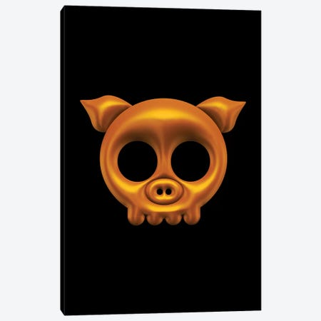 Pig Skull Canvas Print #OMU163} by Octavian Mielu Canvas Art Print