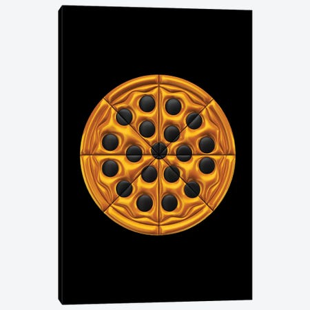 Pizza Canvas Print #OMU164} by Octavian Mielu Canvas Artwork