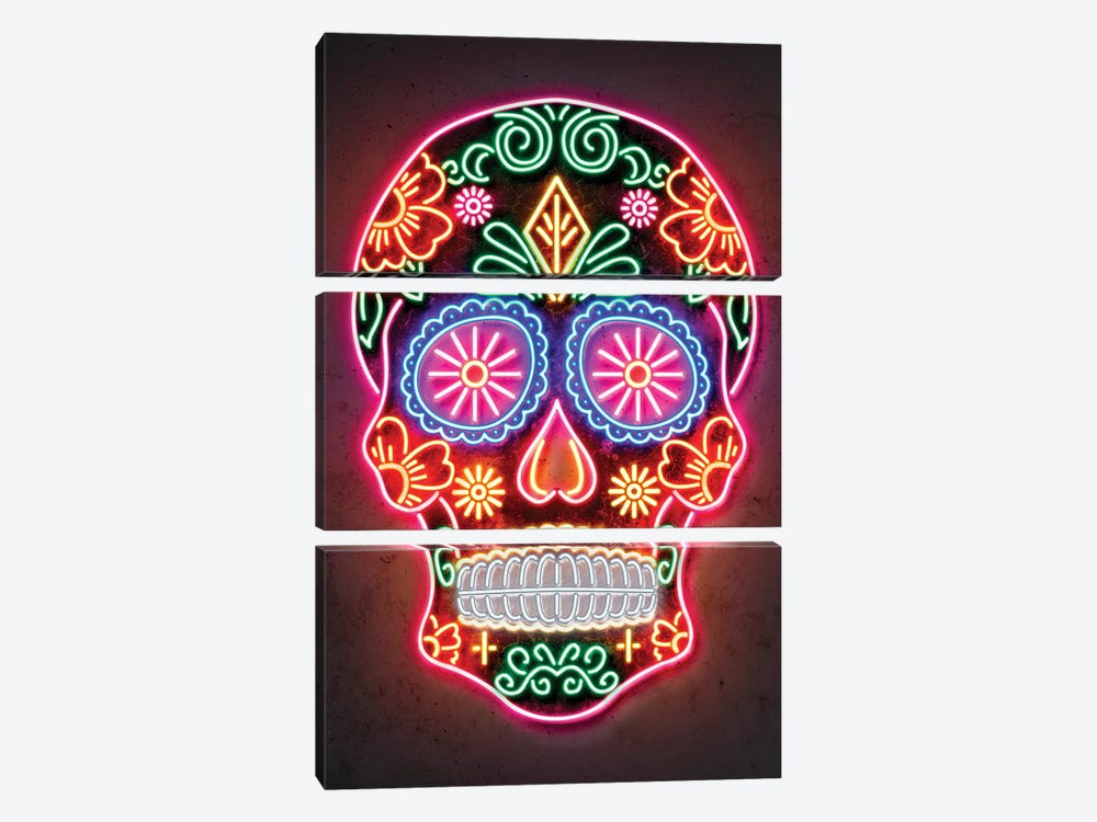 Day Of The Dead by Octavian Mielu 3-piece Canvas Art