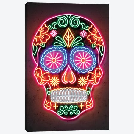 Day Of The Dead Canvas Print #OMU172} by Octavian Mielu Canvas Wall Art