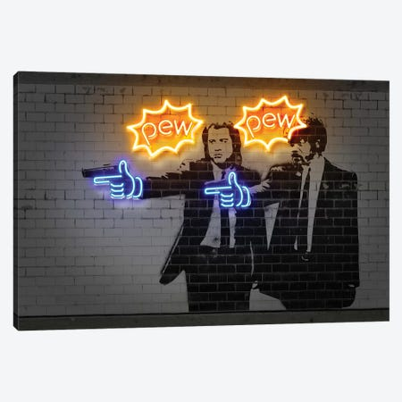 Pew Pew Canvas Print #OMU173} by Octavian Mielu Canvas Art