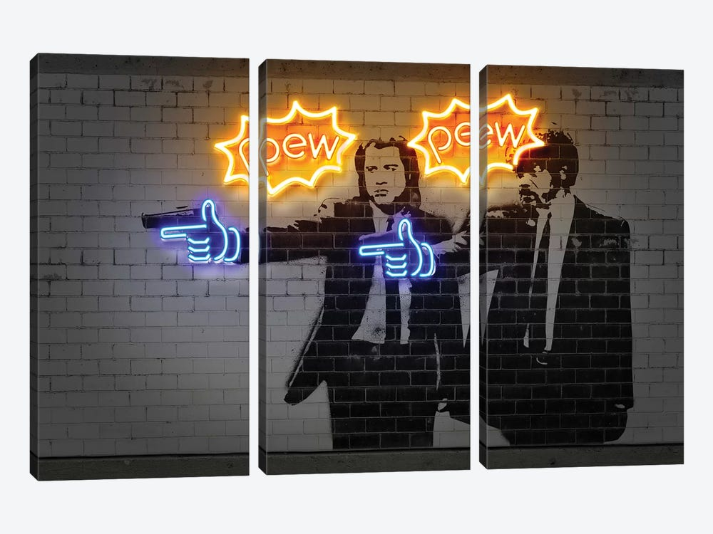 Pew Pew 3-piece Canvas Art Print