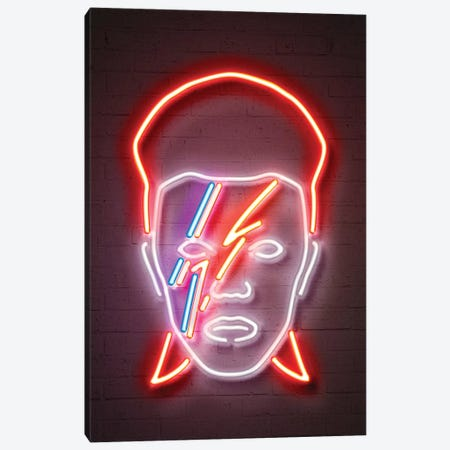 Bowie Canvas Print #OMU174} by Octavian Mielu Canvas Art Print