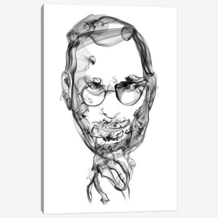 Steve Jobs Canvas Print #OMU17} by Octavian Mielu Canvas Art
