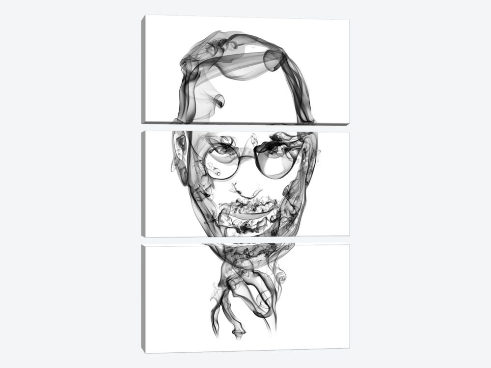 Steve Jobs by Octavian Mielu 3-piece Canvas Art