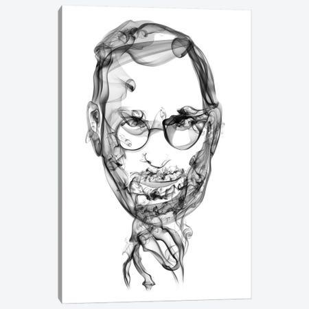 Steve Jobs Canvas Print #OMU17} by Octavian Mielu Canvas Art