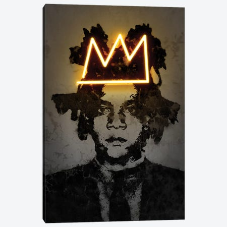 Basquiat Canvas Print #OMU180} by Octavian Mielu Canvas Print