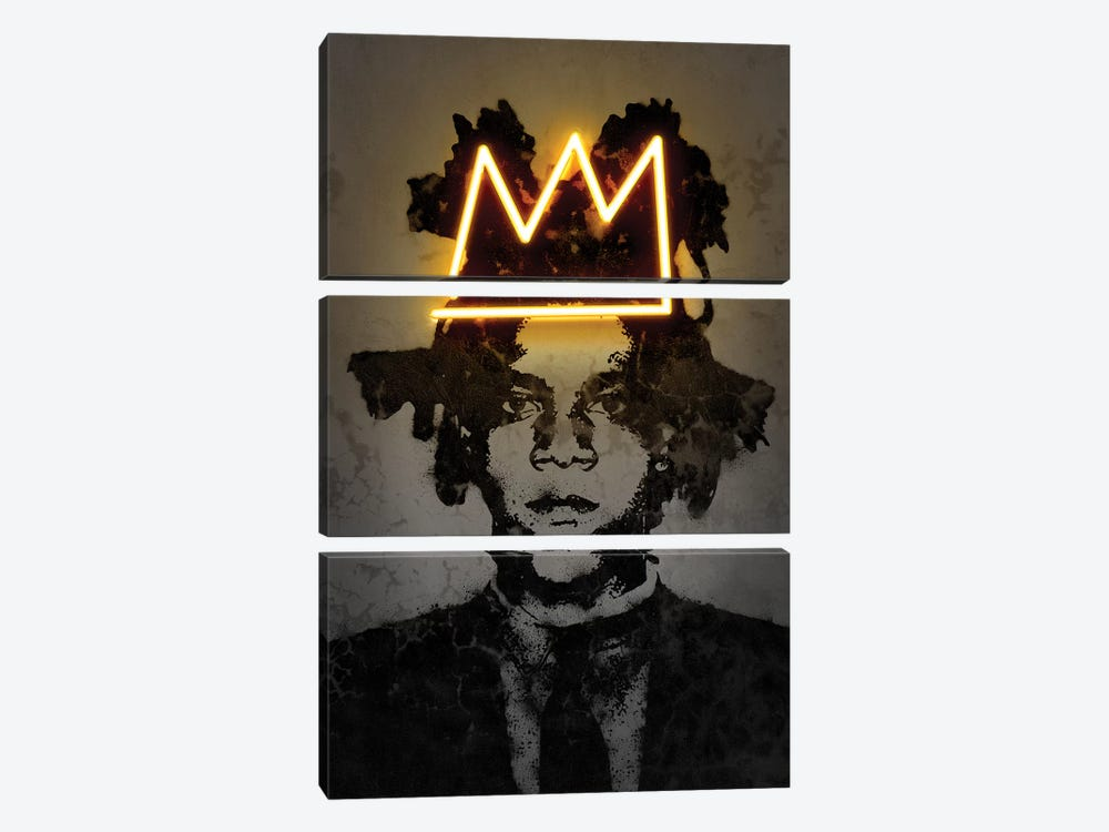 Basquiat by Octavian Mielu 3-piece Canvas Print