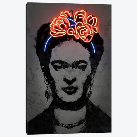 Frida Canvas Print #OMU181} by Octavian Mielu Canvas Art Print