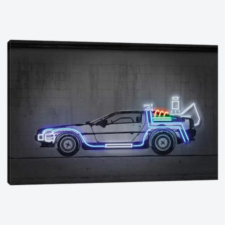 Delorean Canvas Print #OMU190} by Octavian Mielu Canvas Artwork