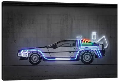 Delorean Canvas Art Print