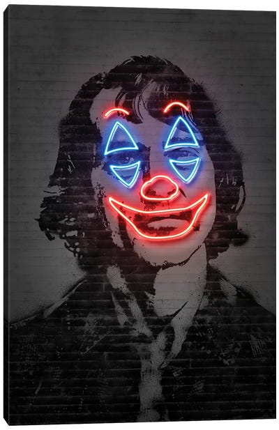 Joker Neon Canvas Art Print