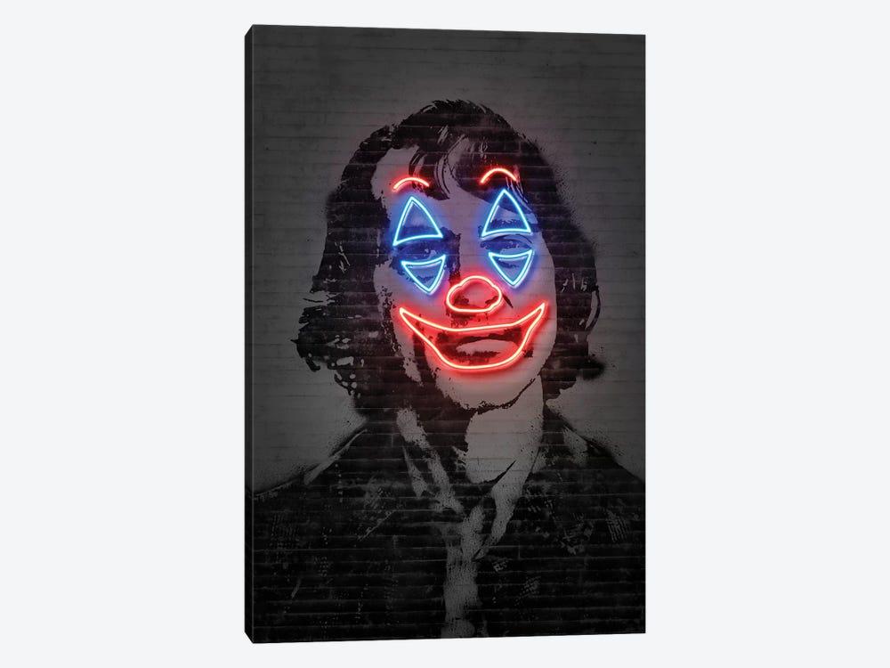 Joker Neon by Octavian Mielu 1-piece Art Print