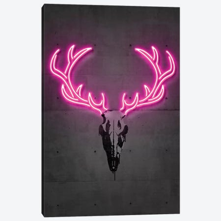 Deer Skull Canvas Print #OMU194} by Octavian Mielu Canvas Print
