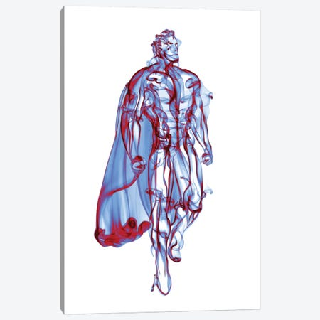 Superman Canvas Print #OMU19} by Octavian Mielu Canvas Print