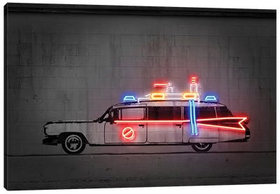 Ghost Car Canvas Art Print