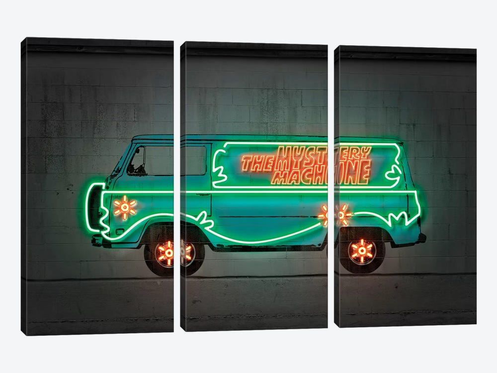 Mystery Car by Octavian Mielu 3-piece Canvas Print
