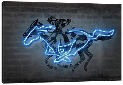 Mustang Canvas Art Print